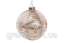 Набор елочных шаров  10см (6шт), цвет: пудровый