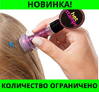 Глиттер-тату для волос Hot Stamps Hair Glitter, блестящий штамп!Розница и Опт