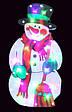 """Новогодняя скульптура """"Снеговик"""" 24 LED, фото 2"""