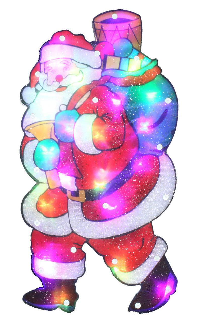 "Новогодняя скульптура ""Дед Мороз и подарки"" 24 LED"
