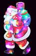 "Новогодняя скульптура ""Дед Мороз и подарки"" 24 LED, фото 2"
