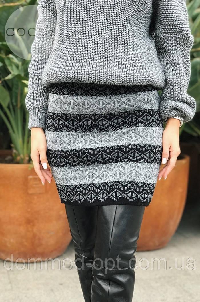 Женская теплая юбка из шерсти 0070 (р.42-48)