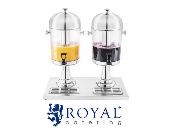 Диспенсер для соков 2х7 литров ROYAL, фото 2