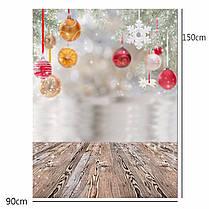 3x5FT Рождественская елка Декор Снежная фотография Фон Фон Студия Prop - 1TopShop, фото 3