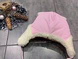 Теплая шапка плащевка для девочки р-ры 46, фото 2