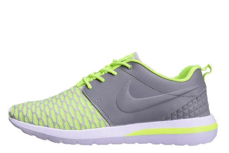 Мужские Кроссовки Nike Roshe Run 3M Flyknit Green Grey 35fa36e467fd0