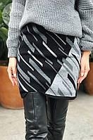 Жіноча тепла спідниця з вовни 0131 (р. 44-50), фото 1