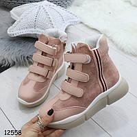 Высокие кроссовки на липучках12558