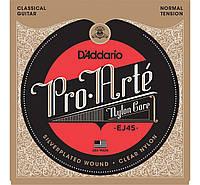 Струны для классической гитары D*ADDARIO EJ-45 PRO-ARTE NORMAL TENSION