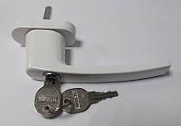 Ручка оконная с ключом WINAX  белая (Турция)