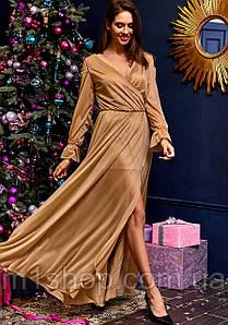 Женское шифоновое блестящее платье в пол(Голдиkr)