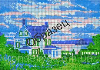 Схема для вишивки бісером «Будинок біля озера»