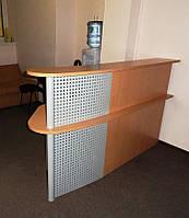 Ресепшн в офис компании, изготовление ресепшн под заказ, Киев (R-29)