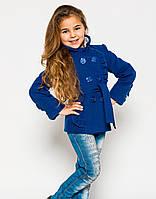 Стильное пальто из кашемира на девочку