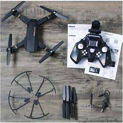 Квадракоптер S9 с камерой 120 градусов обзора и wi-fi (управление с телефона или пульта) Дрон с пультом