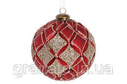 Набор елочных шаров 10см (4шт), цвет: красный