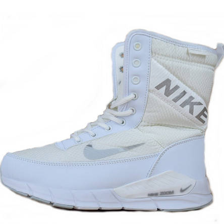 c9836b37 Сапоги спортивные женские Nike Zoom (белые) на Меху, зимние (Top replic)