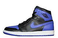 Мужские баскетбольные кроссовки Nike Air Jordan Retro Black Blue|  найк аир джордан ретро черно синие, фото 1