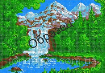 Схема для вышивки бисером «Горный водопад»