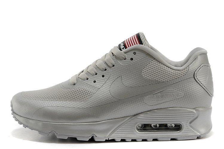 Мужские Кроссовки Nike Air Max 90 Hyperfuse Ash Grey USA  Найк Аир ... c60d173a02d