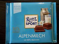 Шоколад Ritter sport Альпийское молоко (Ритер спорт) 100г. Германия
