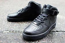 Женские кроссовки Nike Air Force 1 Mid GS Black 314195-004, Найк Аир Форс, фото 2
