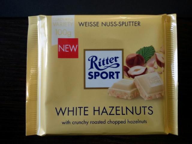 Шоколад Ritter sport белый с орехами  (Ритер спорт) 100г. Германия