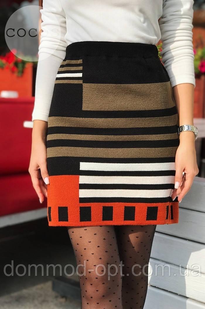 Женская теплая юбка из шерсти 0089 (р.44-50)