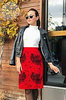 Женская теплая юбка из шерсти 0050 (р.46-52), фото 1