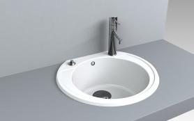 Кухонная мойка из искусственного камня 52*48*20 см Miraggio Tuluza белый