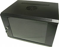 Hypernet WMNC-40-6U-black Шкаф коммутационный настенный 6U 540x400 черный Hypernet WMNC-40-6U-black, фото 1