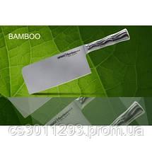 Нож-топорик кухонный Samura Bamboo для мяса, 180 мм, SBA-0040, фото 2