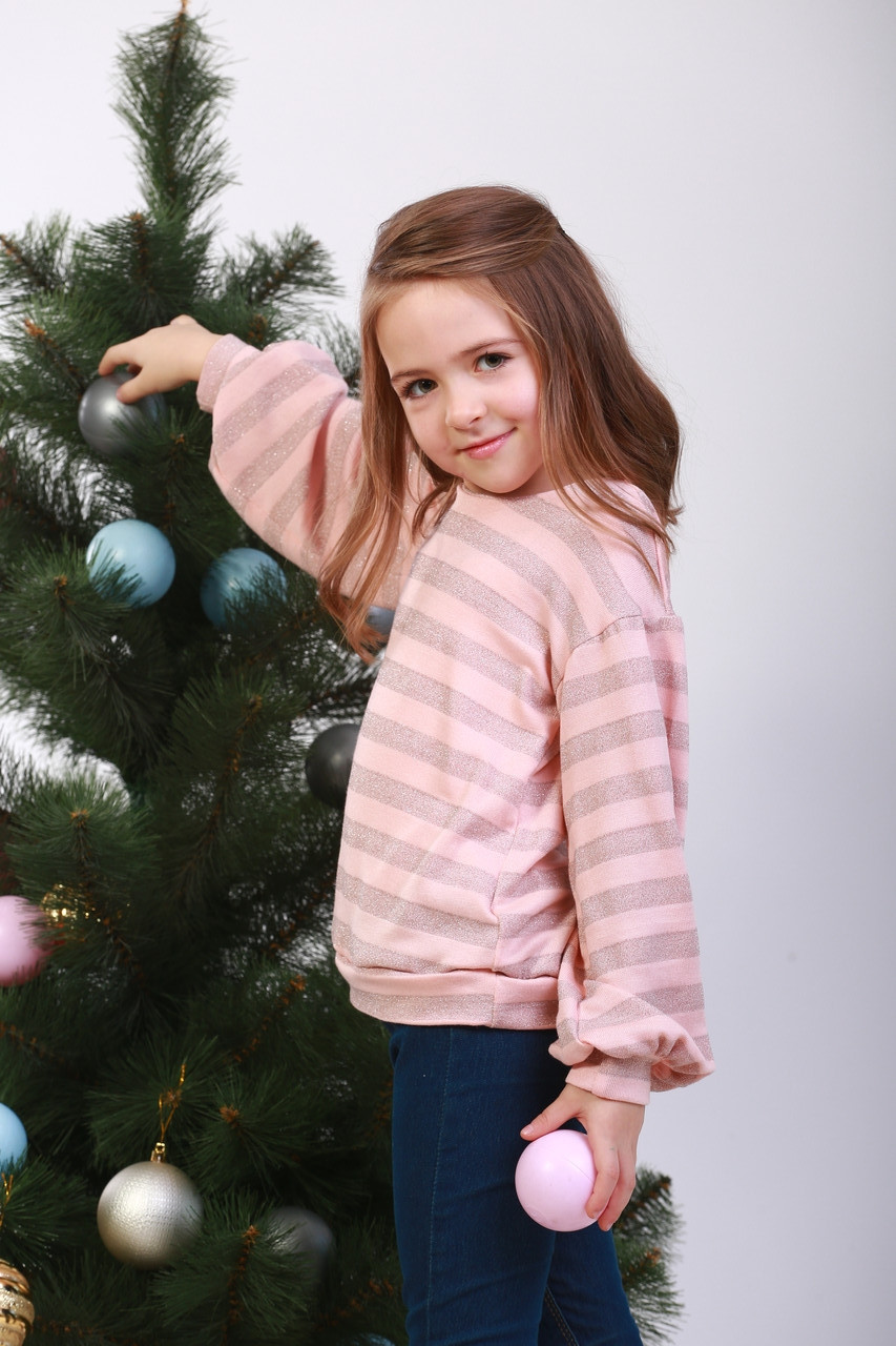 Кофта  детская  трикотажная « Люрекс полоска»