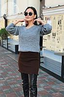 Жіноча тепла спідниця з вовни 0088 (р. 42-48), фото 1
