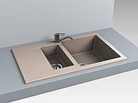 Кухонная мойка из искусственного камня 78*49*20 см Miraggio LaPAS песочный