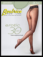 "Колготки матові з мережевним верхом Erotic 30 den ""Beatrice"""