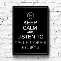 Постер с рамкой Twenty One Pilots #1