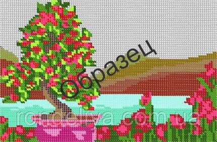 Схема для вышивки бисером «Бонсай в горшке»