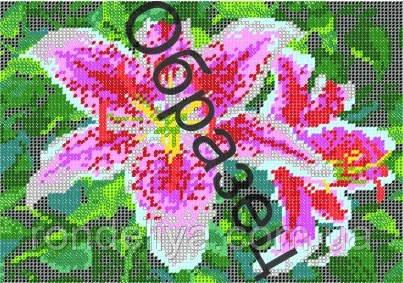 Схема для вышивки бисером «Лилии»
