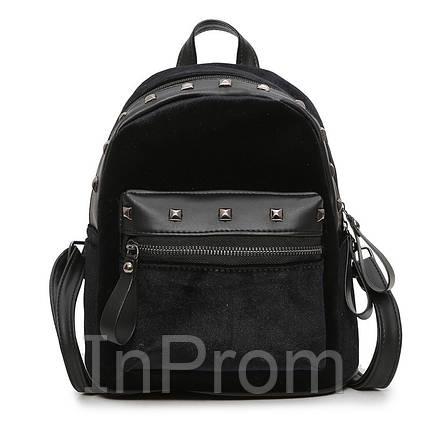 Рюкзак Jesse Velor Black, фото 2