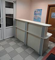 Стол ресепш (стойка ресепшн) в компьютерный сервис. Офисный ресепшн под заказ в Киеве (R-41)