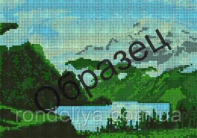 Схема для вышивки бисером «Величие гор»