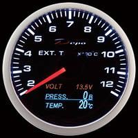 DEPO 4в1 темп. выхлопа, давление, вольтметр, температура