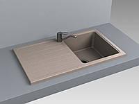 Кухонная мойка из искусственного камня 75*39*20 см Miraggio VERSAL песочный