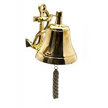 Колокол с якорем рында бронзовый