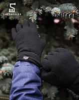 Перчатки микрофлис Pobedov Flisovyye черные, фото 1