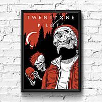 Постер с рамкой Twenty One Pilots #2