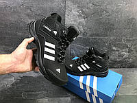 e1dfa182 Зимне кроссовки мужские Adidas Climaproof черные реплика качество ТОП