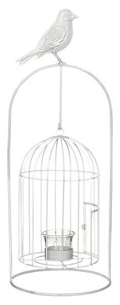 Изделие декоративное в виде клетки для птиц, комплект из 4-х шт. белый