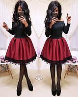 """Стильное  платье с пышной юбкой  (жіноче плаття ) """"Аталия"""" 4 цвета, фото 1"""